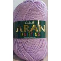 Woolcraft Aran Knitting Yarn 400g 100% Acrylic 494 Lilac